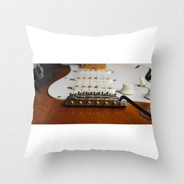 Electric Guitar close up  Throw Pillow