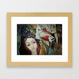 Blue Veil Framed Art Print