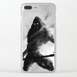 Dual-wielding Swordsman Clear iPhone Case