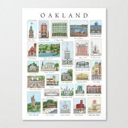 Oakland Landmarks Canvas Print