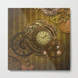 Steampunk design, wonderful clockwork Metal Print