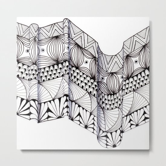 Zentangle Architectural Molding Metal Print