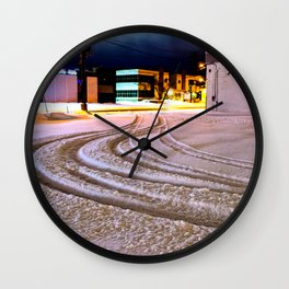 Tracks in the Snow Wall Clock