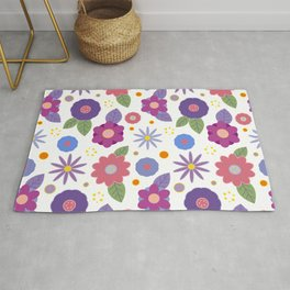 Decorative flowers Rug