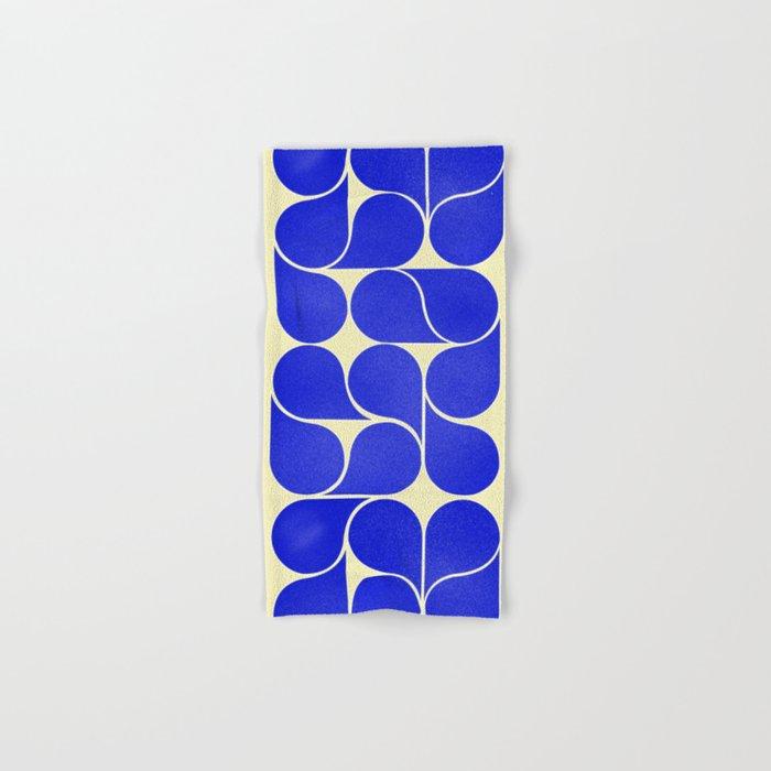 Blue mid-century shapes no8 Hand & Bath Towel