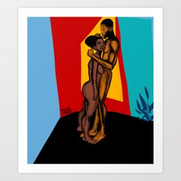 2021 Powerful Colorful Nubian Passion by Marcellous Lovelace Art Print
