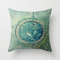 portal Throw Pillows featuring Portal by Labartwurx