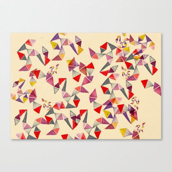 watercolour geometric shapes Canvas Print