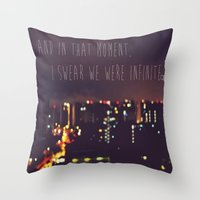 the perks of being a wallflower Throw Pillows featuring PERKS OF BEING A WALLFLOWER  by Sjaefashion