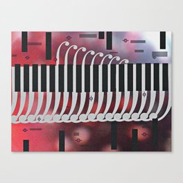 symphony for piano Canvas Print