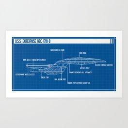 ENTERPRISE NCC-1701-D Art Print