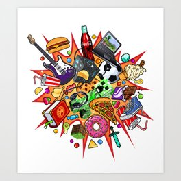teenage explosion  Art Print