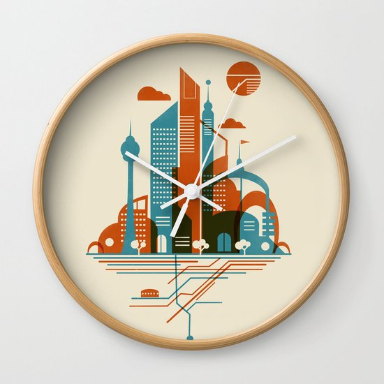 From the Subway to the Sky Wall Clock