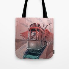 Winged Tram Tote Bag