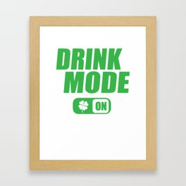 St. Patrick's Day drinking mode clover gift Framed Art Print