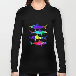 Colorful - Rainbow Sharks Long Sleeve T-shirt