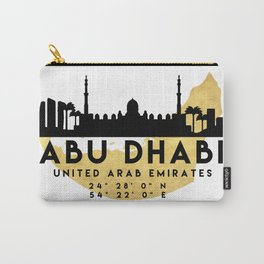 ABU DHABI UNITED ARAB EMIRATES SILHOUETTE SKYLINE MAP ART Carry-All Pouch