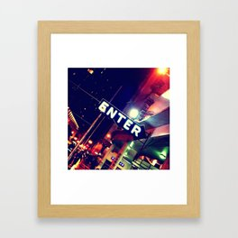 enter Framed Art Print