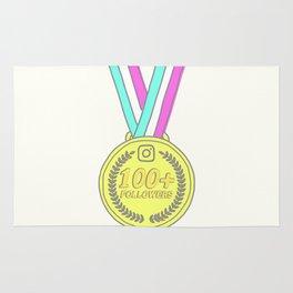 100+Followers Medal Rug