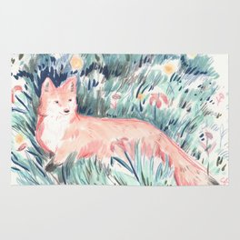Fox in the Meadow Rug