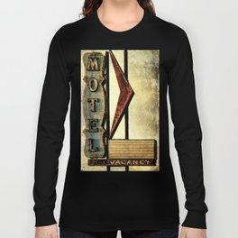 Vintage Arrow Motel Sign Long Sleeve T-shirt