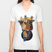 camel V-neck T-shirts featuring Camel by Ruud van Koningsbrugge