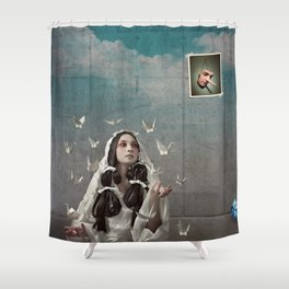 The Concrete Room Shower Curtain
