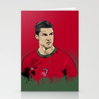 ronaldo Stationery Cards featuring Cristiano Ronaldo by J Maldonado