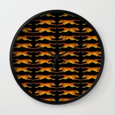Leaping Tigers Wall Clock