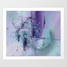 Water in the Moon, Original Oil On Canvas Modern Abstract Art Print