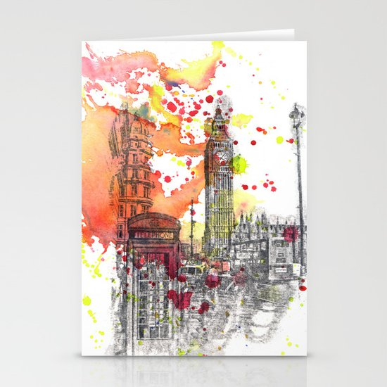 London Scene Stationery Cards