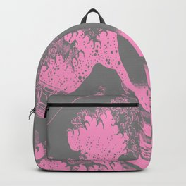 The Great Wave Pink & Gray Backpack