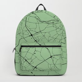 Dublin Ireland Green on Black Street Map Backpack
