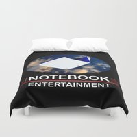 notebook Duvet Covers featuring Notebook Entertainment 2 by NotebookFilms