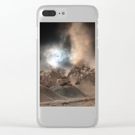 Heavy Duty Earthworks During An Eclipse Clear iPhone Case