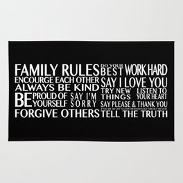 Family Rules Rug