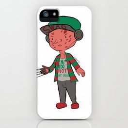 Horror Hipsters - Freddy Krueger iPhone Case