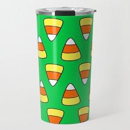 Green Candy Corn Travel Mug