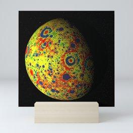 1165. Free-Air Gravity Map of the Moon Mini Art Print