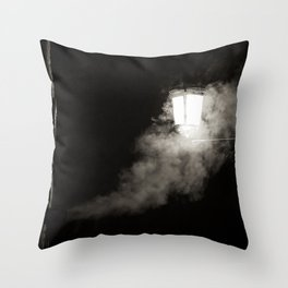 Nightly smoke Throw Pillow
