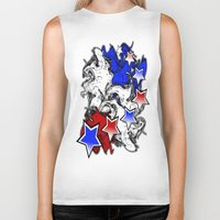 american Biker Tanks featuring AMERICAN  by Robleedesigns