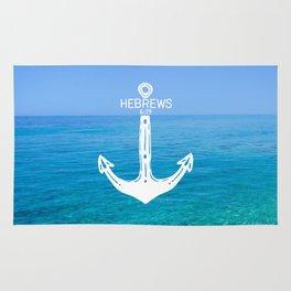 Hebrews Anchor Ocean Rug