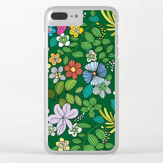 Flowers XIII Clear iPhone Case