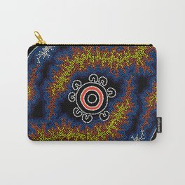 The Heart of Fire - Authentic Aboriginal Art Carry-All Pouch