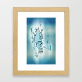 Blue Turquoise Framed Art Print