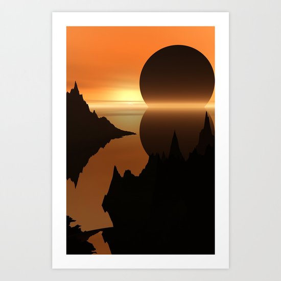 Sunset, Elsewhere Art Print