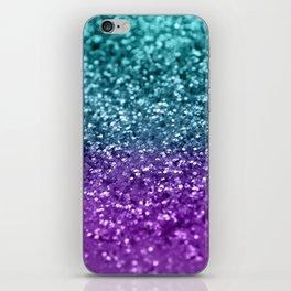 Purple Teal MERMAID Girls Glitter #1 #shiny #decor #art #society6 iPhone Skin