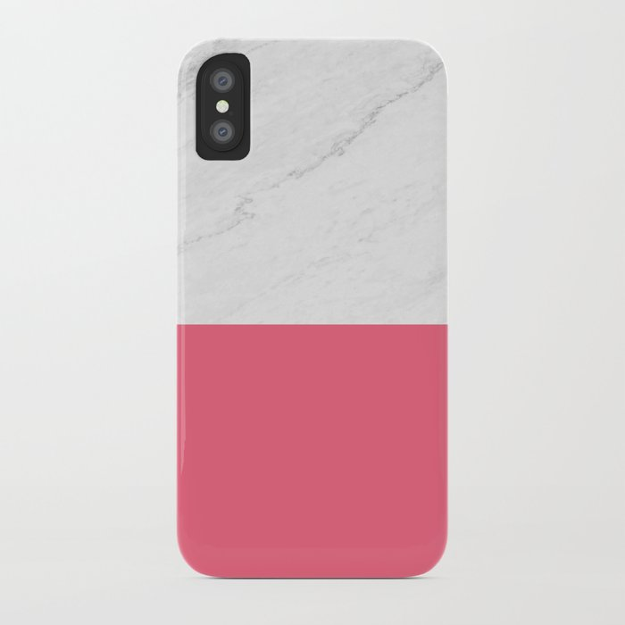 Marble And Pink iPhone Case