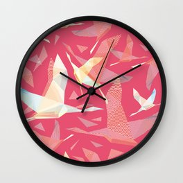 Shadoof, shadoof background pattern, shadoof in flight, wildlife bird Wall Clock