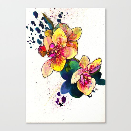 Inky Orchid Canvas Print